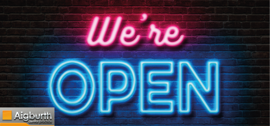 WE ARE OPEN DURING LOCKDOWN AT AIGBURTH DENTAL PRACTICE IN LIVERPOOL AFTER 5 NOVEMBER